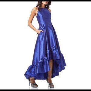 Adrianna appellation high low hem failed Gown